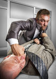 Businessmen fighting for agreement signing Royalty Free Stock Photography