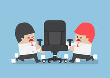Businessmen fighting for ceo chair. Business competition and rivalry concept Stock Photo