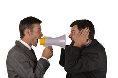 Businessmen find out emotionally attitudes Royalty Free Stock Images