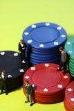 Businessmen gambling B Stock Images