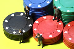 Businessmen gambling A Royalty Free Stock Images