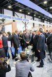 Businessmen on the Gas Forum. Royalty Free Stock Photos