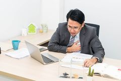 Businessman is sick royalty free stock image