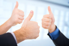 Businessmen Gesturing Thumbs up Royalty Free Stock Photo