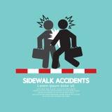 Businessmen Get Accidents On Sidewalk Black Symbol Stock Photos