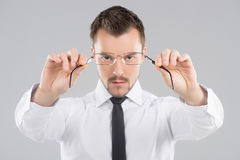 Businessmen with glasses. Stock Images