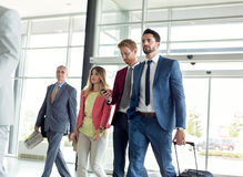 Businessmen go to work Stock Images