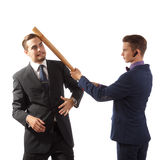 Businessmen goofing around Royalty Free Stock Image