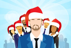 Businessmen with Group of Business People New Year Stock Photos