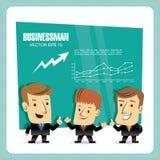 Businessmen. Group of cartoon businessmen giving presentation Royalty Free Stock Image