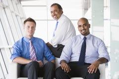 businessmen group lobby sitting Στοκ Εικόνες