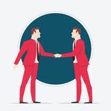 Businessmen hand shaking Royalty Free Stock Images
