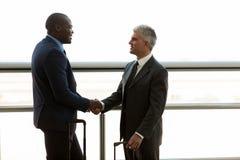 Businessmen hand shaking Stock Photo