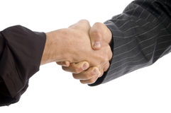 Businessmen hands with successful deal stock photo