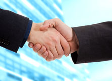 Businessmen handshake Stock Images