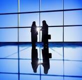 Businessmen Handshake Corporate Greeting Communication Concept Royalty Free Stock Image