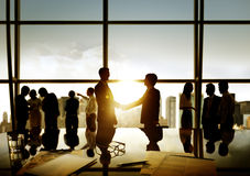 Businessmen Handshake Deal Business Commitment Concept Stock Photo