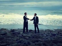 Businessmen Handshake Team Collaboration Partnership Concept Royalty Free Stock Photo