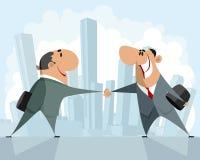 businessmen handshake two 库存照片
