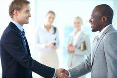 Businessmen Handshaking Royalty Free Stock Image