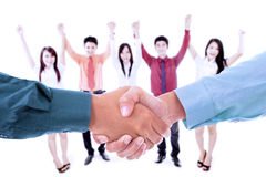 Business team cheer for success Stock Image
