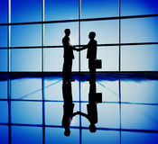 Businessmen Handshaking Contract Corporate Business Concept stock image