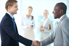 Businessmen handshaking Royalty Free Stock Image