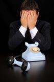 Businessmen have received bad news. Stock Image