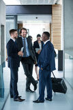 Businessmen having a conversation Royalty Free Stock Photos