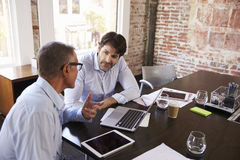 Businessmen Having Creative Brainstorming Meeting In Office Royalty Free Stock Photography