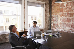 Businessmen Having Creative Brainstorming Meeting In Office Stock Photography