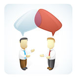 Businessmen are having Discussion. Vector illustration of two businessmen having discussion Royalty Free Stock Images