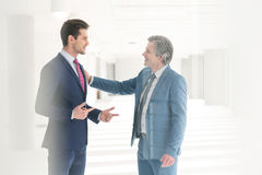 Businessmen having discussion in new office Stock Images