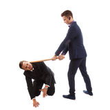 Businessmen having a fight Royalty Free Stock Photo