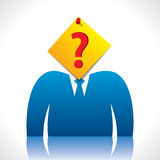 Businessmen head cover with question mark paper no Stock Photography