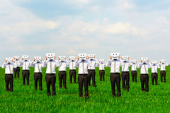 Businessmen hiding their faces Royalty Free Stock Photography