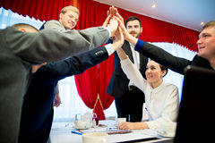 Businessmen high five Royalty Free Stock Photography