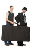 Businessmen holding the bag. Royalty Free Stock Images