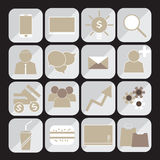 Businessmen icons set  Royalty Free Stock Photography