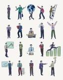 20 Businessmen illustrations. Set of 20 vector illustrations of businessmen in various business poses Royalty Free Illustration