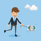 Businessmen and Incentive Money. This is graphics vector Illustration character design concept. Ready to use for websites, social medias, presentations, Icons Royalty Free Stock Images