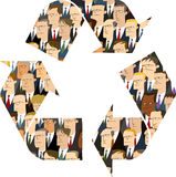 Businessmen inside Recycling Symbol Royalty Free Stock Image