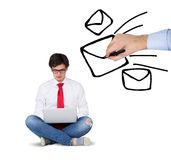 Businessmen with laptop Royalty Free Stock Photo