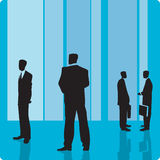 Businessmen in large hall Royalty Free Stock Photography