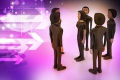 Businessmen. Leadership and team Stock Image