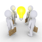 Businessmen and light bulb Royalty Free Stock Images