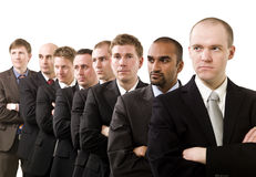 Businessmen on a line Royalty Free Stock Image