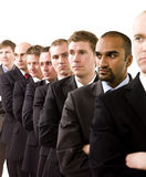 Businessmen on a line Stock Image