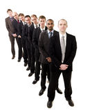 Businessmen on a line Royalty Free Stock Images