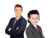 Businessmen. Little child and young men Stock Images